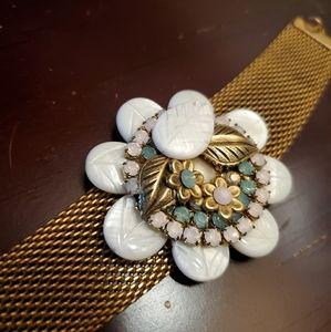 Vintage Anthropologie mother of pearl bracelet